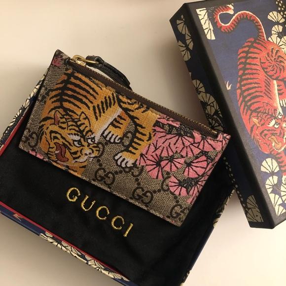 7b070ff4186 Gucci GG Supreme Bengal Tiger Card Case. M 5c81d736c9bf508567495d2f